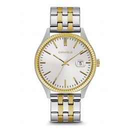 Caravelle by Bulova 45B148 Men's Dress Two-Tone Stainless Steel Watch