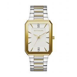 Wittnauer WN3093 Men's Omni Diamond Accent Two-Tone Watch with Black Dial