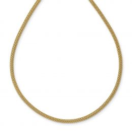 """14K Yellow Gold Mesh Necklace, 17.5"""""""