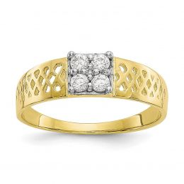10K Yellow Gold Baby and Children Ring, Size 1