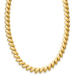 """14K Yellow Gold 8 MM Polished San Marco Necklace, 17"""""""