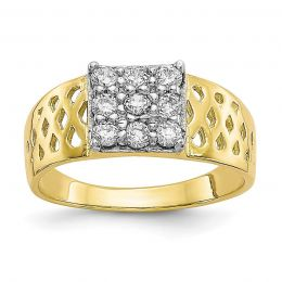 10K Yellow Gold Baby and Children Ring, Size 1.5