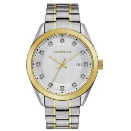 Caravelle by Bulova 45B154 Men's Dress Two-Tone Stainless Steel Watch